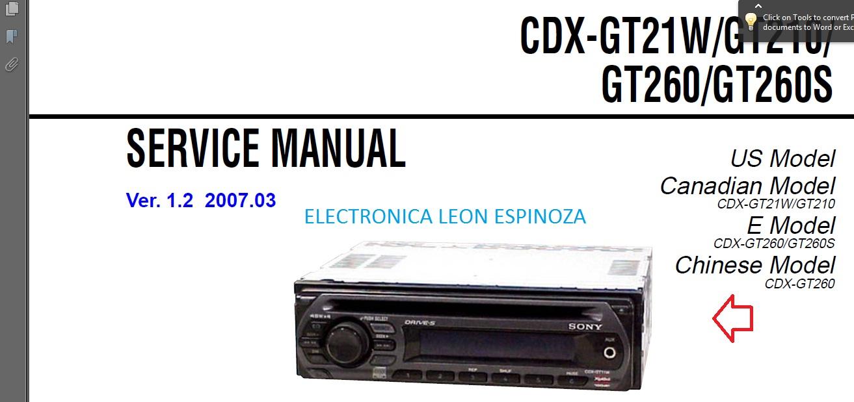 autoradio sony autoradio sony modelo cdx gt21w gt 210 gt260 electronica leon sony cdx-gt21w wiring diagram at eliteediting.co